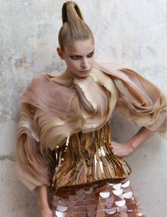 Mixed Textures :: soft, delicate, tactile, smooth, rough, glossy // fashion design details, blush pink and metallic gold