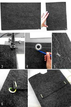 Felt place­mat, about 1/4-inch thick Neon silk thread Scis­sors Sewing machine Make A Felt iPad Sleeve In 10 Minutes