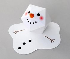 PAPERMAU: Christmas Time - The Melting Snowman Paper Toy - by Minieco
