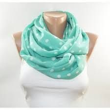 Mint Infinity Floral Scarf