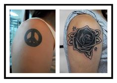 Downtown Buenos Aires Tattoo Studio: BLACK ROSE TATTOO (Cover-up)