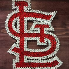 """$50, 12""""x12"""", St. Louis Cardinals String Art by StringsAndThings11 on Etsy"""