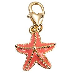 """Starfish charm inspired by """"The Little Mermaid."""" By Kidada for Disney. Enameled and 14K gold plated lead-free tin alloy. $14.50"""