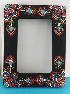 Mirror Painting, Dot Art Painting, Mandala Painting, Mandala Drawing, Painting Frames, Mandala Canvas, Mandala Dots, Mandala Design, Painted Picture Frames