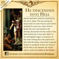 """Explanation of """"He descended into hell"""""""
