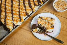 Samoa Sheet Cake turns a classic Girl Scout cookie into a real party.