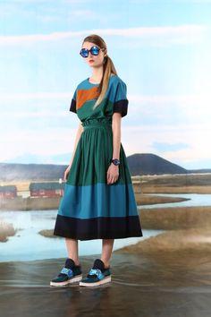 Robe longue multicolore
