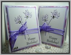 Memory Box Die Card Ideas   Purple….   craftingcottage