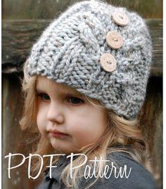 Knitting PATTERN-The Irelynn Hat Toddler Child by Thevelvetacorn