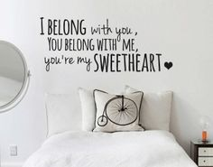 THE LUMINEERS 'Ho Hey' Lyrics Wall Decal -  sticker vinyl quote words song on Etsy, $25.02