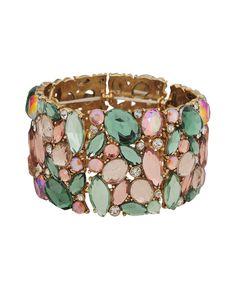 Colorful Rhinestone Bracelet | FOREVER21 - 1000045098 $12.80