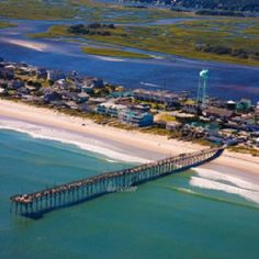 Jolly Roger Pier Topsail Island Nc Love Beach And The Brandi Moden North Carolina Southern Living