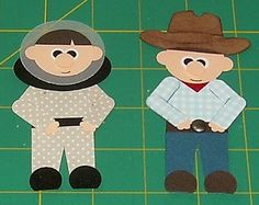 Beth-A-Palooza: Cowboy and Astronaut Tutorial Punch Art Paper Punch Art, Punch Art Cards, Scrapbook Paper Crafts, Scrapbook Cards, Scrapbooking Ideas, Paper Crafting, Craft Punches, Owl Punch, Kids Cards