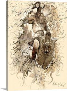 Steve A. Roberts Premium Thick-Wrap Canvas Wall Art Print entitled Viking II, None