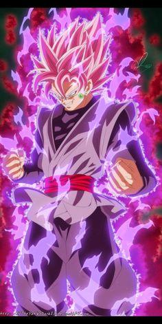 Goku Black Super Saiyajin Rosa