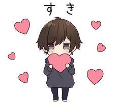 It is a cute sticker of Menhera-kun. Chibi Kawaii, Chibi Boy, Cute Anime Chibi, Cute Anime Guys, Anime Neko, Kawaii Anime Girl, Anime Art Girl, Anime Stickers, Cute Stickers
