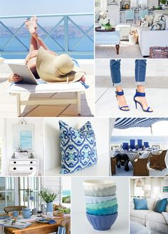 Beach House Blues | Yours Truly Love this decor! Check out my blog at www.northwestsuburbancowgirl.com!