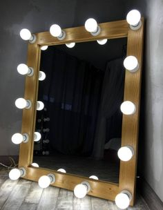 Vanity Hollywood Mirror with lights Mirror with lights Hollywood Mirror With Lights, Hollywood Vanity Mirror, Orange Chest Of Drawers, Childrens Cushions, Blue Chests, House Styles, Bulb Mirror, Beauty Room, Etsy