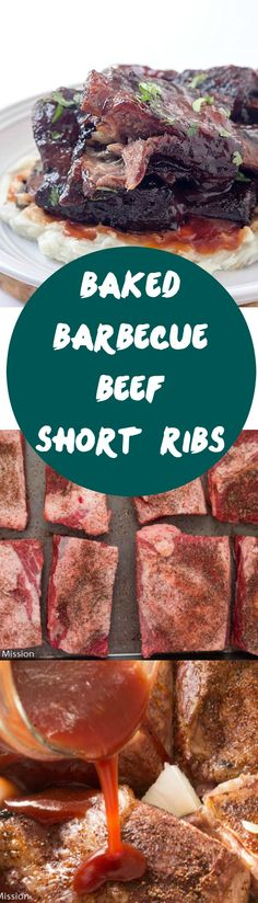 Baked Barbecue Beef Short Ribs - If you are a fan of beef ribs, this these finger-licking short ribs are for YOU! These beef short ribs are baked in the oven with a delicious spice rub, then barbecue sauce is drizzled all over them! You are not going to miss beef ribs on the grill!