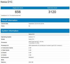 Lộ diện smartphone Nokia D1C, chạy Android 7.0, chip 8 nhân, 3 GB RAM