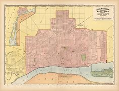 60 best Detroit maps images on Pinterest | Detroit map, Detroit ...