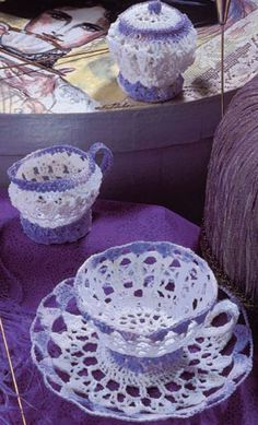 Crochet Tea Set - Pattern-Making www.pattern-making.com