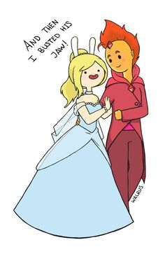 Fionna And Flame Prince by ~TheWalrusHasSpoken on deviantART