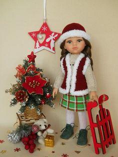 новогодняя юбка для куклы Master Class, Dolls, Christmas Ornaments, Holiday Decor, Crochet Doll Clothes, Puppet, Christmas Jewelry, Doll, Christmas Ornament