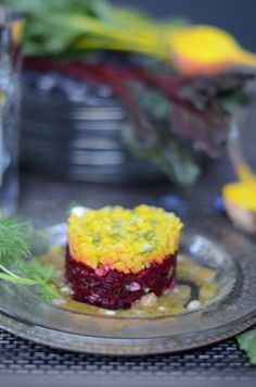 Golden & Red Beet Tartare with an Apple Cider and Dill Vinaigrette from @Shulie Madnick