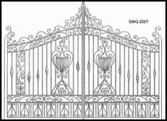 iron gate - find four and frame them; hang them in a group on the wall