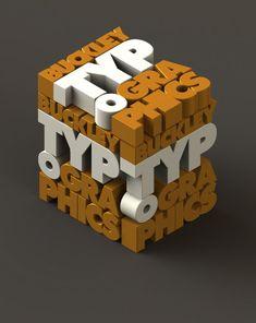 54.3D typography art