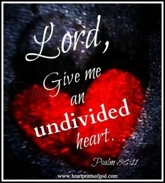 Heartprints of God: An Undivided Heart~<3  www.facebook.com/heartprintsofgod