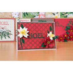 Florartistry Fabulous Folding Flowers and Stamens Large and Small Christmas Dies Collection with Papers No Colour Create And Craft, Cardmaking, Journaling, Festive, Projects To Try, Scrapbooking, Gift Wrapping, Paper, Flowers