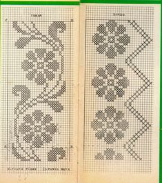 This Pin was discovered by Dia Crochet Table Runner Pattern, Crochet Lace Edging, Crochet Doily Patterns, Crochet Borders, Embroidery Patterns, Filet Crochet Charts, Crochet Diagram, Beaded Cross Stitch, Cross Stitch Embroidery