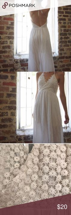 White lace maxi dress S Size small. Bought on here but doesn't fit. Dresses Maxi