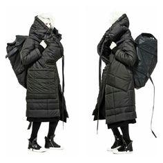 Missing Light: Photo Coats For Women, Jackets For Women, Cyberpunk Fashion, Fashion Details, Fashion Design, Oversized Coat, Outerwear Women, Runway Fashion, Fashion Women