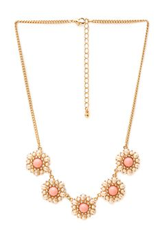 Regal Faux Pearl Cluster Necklace | FOREVER21 - 1000087614