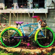 Freshly painted #vintage bicycle !