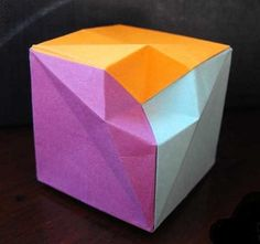 origami Check Cube | origami & paper art | Pinterest | Origami and ...
