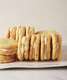 Lemon Cornmeal Sandwich Cookies - After cookies cool refrigerate for 2 hours and then make ice cream sandwiches using Highland strawberry ice cream
