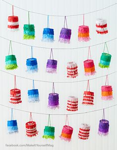 Count down the days until Christmas with miniature piñatas filled with tiny surprises! (Designer: Lisa Storms) For instructions, purchase your digital issue here: http://www.zinio.com/www/browse/issue.jsp?skuId=416279179&prnt=&offer=&categoryId=