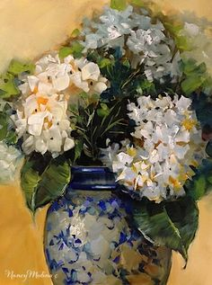 "Daily Paintworks - ""Three Wishes Hydrangeas and a Free Painting Giveaway - Floral Art by Nancy Medina Art"" - Original Fine Art for Sale - © Nancy Medina Poppy Flower Painting, Hydrangea Painting, Watercolor Flowers, Flower Art, Flower Paintings, Still Life Art, Contemporary Paintings, Beautiful Paintings, Beautiful Flowers"