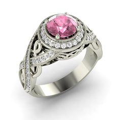 Natural Pink Sapphire SI Diamond Engagement Ring in 14k Rose Gold 1 40 Ct | eBay