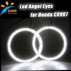 51.30$  Buy now - http://ali53k.worldwells.pw/go.php?t=1286646927 - SMD LED Angel Eyes Kit xenon White Halo Rings Headlight For Honda CRV 2007 SMD led lamp white color free shipping