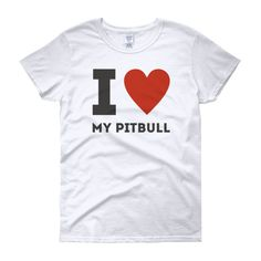 """I Love My Amstaff"" Women's short sleeve t-shirt Neck T Shirt, Pitbulls, Europe, T Shirts For Women, American, My Love, Sleeve, Mens Tops, Manga"