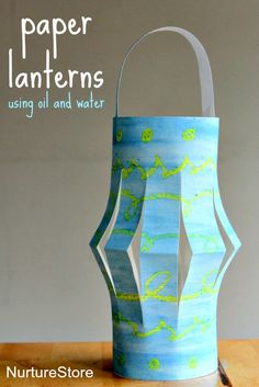 How to make paper plate lanterns using a beautiful oil and water technique - great Ramadan craft for kids. Shared by Career Path Design. Ramadan Activities, Ramadan Crafts, Ramadan Decorations, Activities For Kids, Thanksgiving Activities, Ramadan For Kids, Eid Crafts, Art For Kids, Crafts For Kids