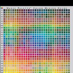 Color mixing chart - I almost bought this.