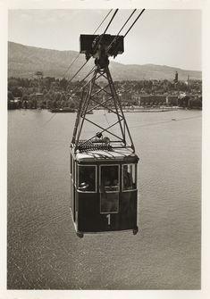Die LA Schwebebahn gegen Zürich Enge  1939 Bahn, Switzerland, The Past, Building, Travel, Levitate, Viajes, Buildings, Trips