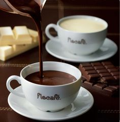 Hot chocolate from Flo Cafe Coffee Time, Coffee Cups, Some Like It Hot, Chocolate Coffee, Bon Appetit, Tea, Tableware, Chocolates, Shops