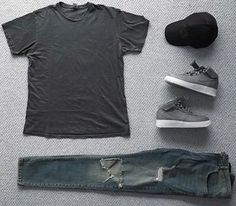 WEBSTA @ streetfitgrid - #Streetfitgrid by @dpleung ☑️-Profound Aesthetic Tee-Favela Clothing Denim-Nike Lab AF1-Y3 Cap